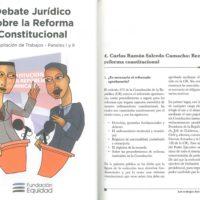 Fundación Equidad – Debate jurídico sobre la reforma constitucional. Compilación de trabajos – Paneles I-II