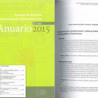 Programa Estado de Derecho para Latinoamérica  – Anuario de Derecho Constitucional Latinoamericano 2015
