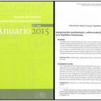 Anuario de Derecho Constitucional Latinoamericano 21º. año – Anuario 2015