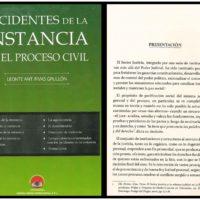 Leonte Ant. Rivas Grullón – Incidentes De La Instamcia En El Proceso Civil